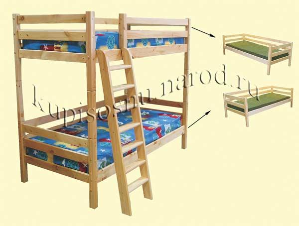 2х ярусная кровать сделать